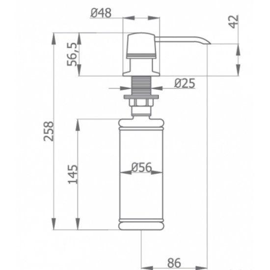 Дозатор для рідкого мила GRB 05090003 купити ee57336697471